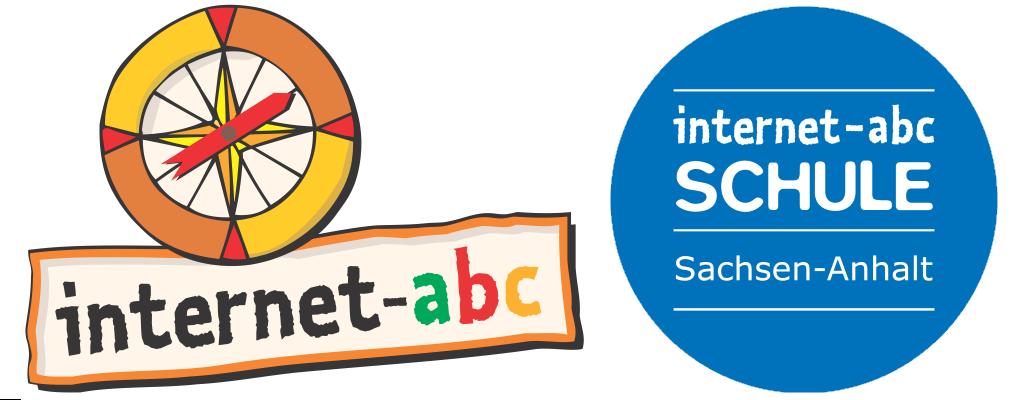 """Logo und Siegel """"Internet-ABC-Schule"""" Sachsen-Anhalt"""
